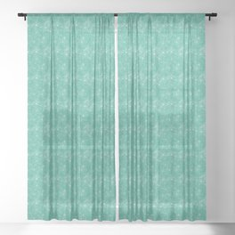 Floral Freeze Mint Sheer Curtain