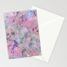 Pink Blush Abstract Stationery Cards