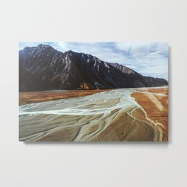 Glacier Runoff Metal Print