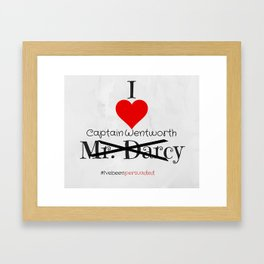 I heart Captain Wentworth - Persuasion - Jane Austen Framed Art Print