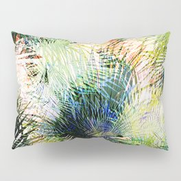 Modern palm leaves tropical abstract design Pillow Sham