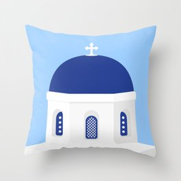 Santorini #02 Throw Pillow