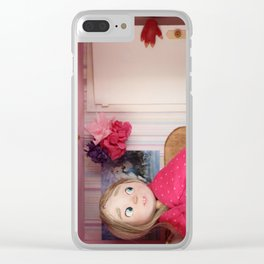 The monster behind the door Clear iPhone Case