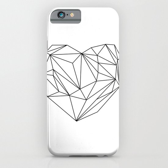 Heart Graphic (black on white) iPhone & iPod Case
