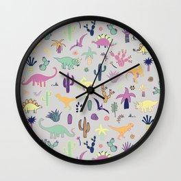 Dinosaur Desert Wall Clock
