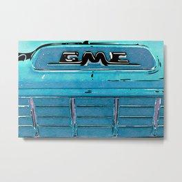 GMC Watercolor Metal Print