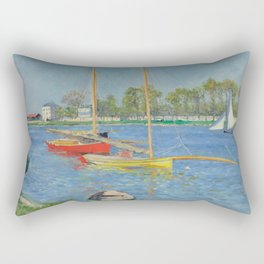 """Gustave Caillebotte """"The Seine at Argenteuil"""" Rectangular Pillow"""