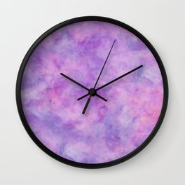 Lavender Purple Marble Watercolor Texture Wall Clock