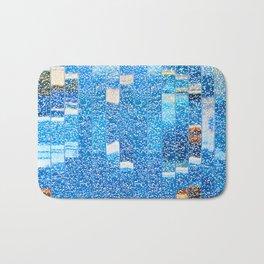 Air bubbles in blue water Bath Mat