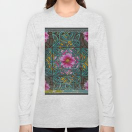 GRUNGY ANTIQUE PINK FLORAL CELTIC PATTERN Long Sleeve T-shirt