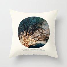 White Lights Throw Pillow