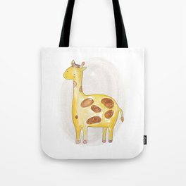 Animal tales - Giraffe in watercolor Tote Bag