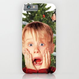 home alone at christmas 2020 white iPhone Case