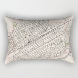Vintage Map of Birmingham Alabama (1901) Rectangular Pillow