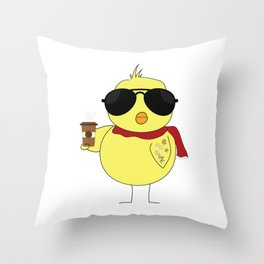 Cool Chick Throw Pillow