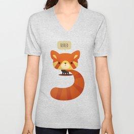 Little Furry Friends - Red Panda Unisex V-Neck