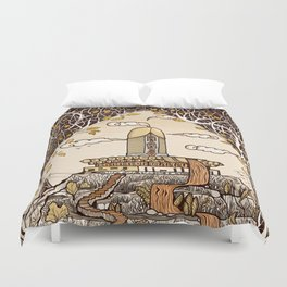 Fountain of happiness Duvet Cover
