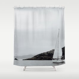 Misty Morning Sail Shower Curtain