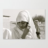 arab Canvas Prints featuring Arab Woman by Dave Christiansen - Photographer/Artist