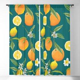 Lemons and oranges Blackout Curtain
