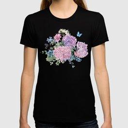 Summer Vintage Hydrangea T-shirt