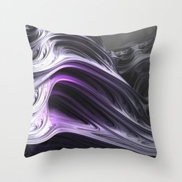 Amethyst Waves Throw Pillow