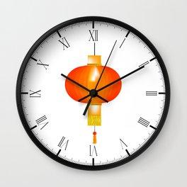 Chinese Paper Lantern Wall Clock