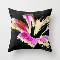 lily Throw Pillows featuring Lily by Vitta