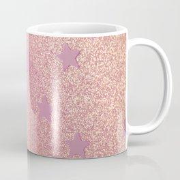 Rainbow Glitter and Stars Coffee Mug