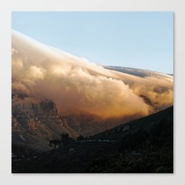Crowned in clouds Canvas Print