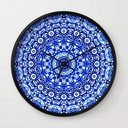 Blue Mandala Mehndi Style G403 Wall Clock