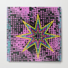 Pink Star Metal Print