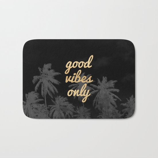 Good Vibes Only Palm Trees Bath Mat