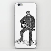 rock n roll iPhone & iPod Skins featuring Rock 'N' Roll by The Curly Whirl Girly.