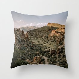 Balanced Rock Valley View in Big Bend - Landscape Photography Throw Pillow