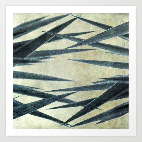 Yucca Leaves Abstract Art Print