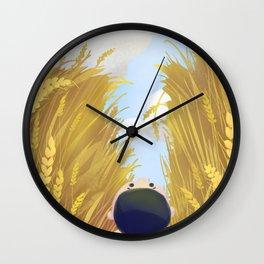 Boy In The Field Wall Clock