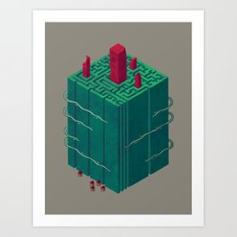 Within the Maze Art Print