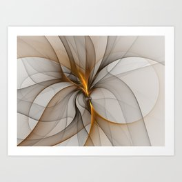 Elegant Chaos, Abstract Fractal Art Art Print
