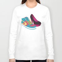 shoe Long Sleeve T-shirts featuring Shoe Lovin' by mrbiscuit