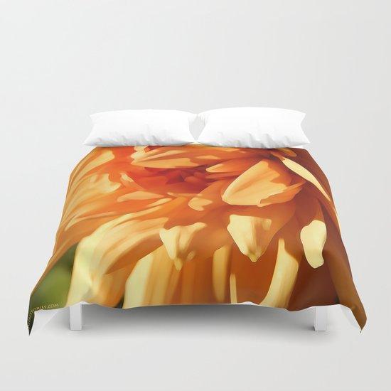 Vermont Autumn Golden Flower Duvet Cover