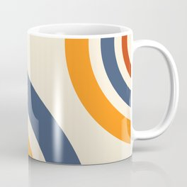 Retro Circle Rainbow Pattern Coffee Mug
