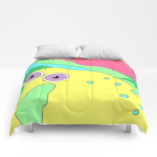 Peaceful Stranger Happy Plain Comforters