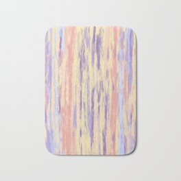Vertical Stripes on Buttercream - from the Lilac Buttercup colour palette collection Bath Mat