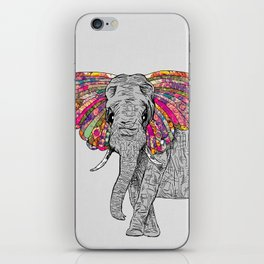 Bella The Happy Butterphant iPhone Skin