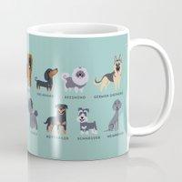 german Mugs featuring GERMAN DOGS by Doggie Drawings