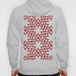 Red and white pattern Hoody