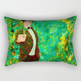 11th Doctor Abstract art Rectangular Pillow