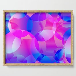 Violet and blue soap bubbles. Serving Tray