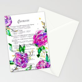 Book contents - Floral painting Stationery Cards